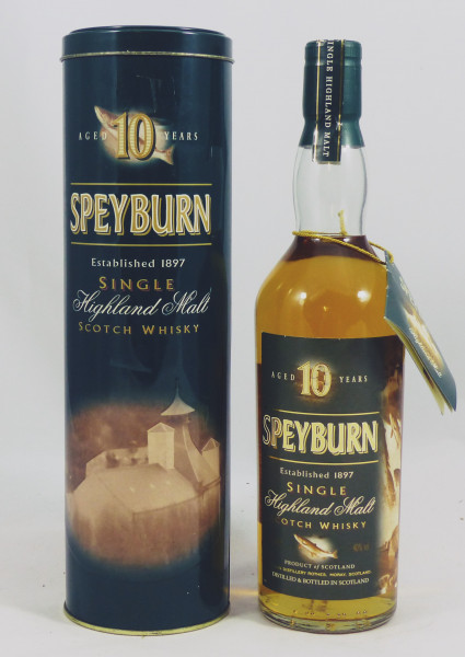 Speyburn 10 Jahre - Fish Edition, ältere Aufmachung TIN