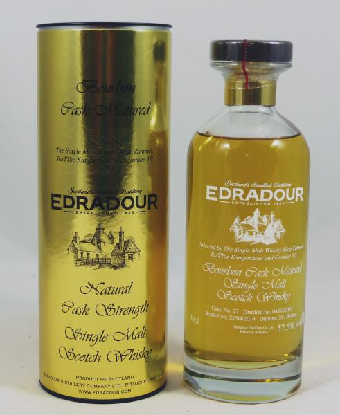 Edradour 2003 b. 2014 Cask Strength 57.5% #27 Ibisco Decanter