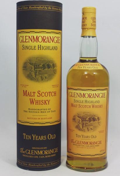 Glenmorangie 10 Jahre old Style 1L Stills Backlabel