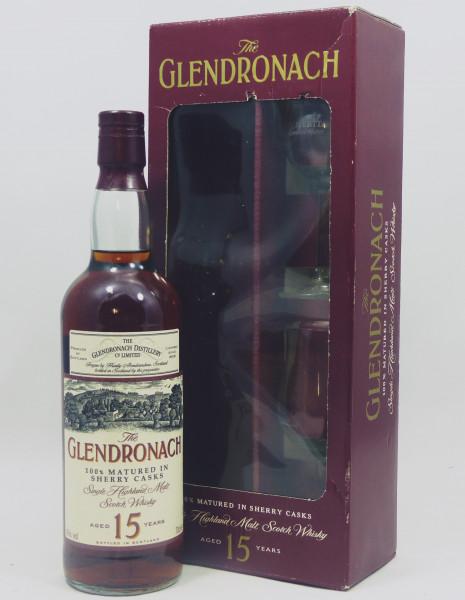 Glendronach 15 Jahre old Style 100% Sherry Casks GP mit 2 Gläsern