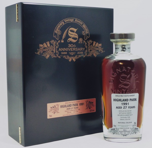 Highland Park 27 years 1991 Signatory 30th Anniversary