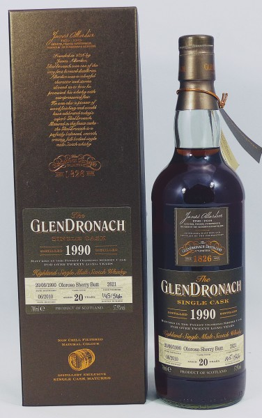 Glendronach 20 Jahre 1990 Single Cask 2621 Oloroso Sherry