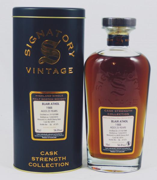 Blair Athol 25 Jahre 1988 SV Cask Strength Collection - Sherry Butt #6914