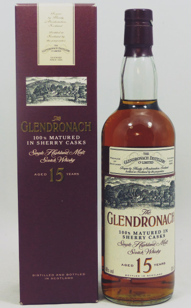 Glendronach 15 Jahre 100% matured in Sherry Casks - Old Style