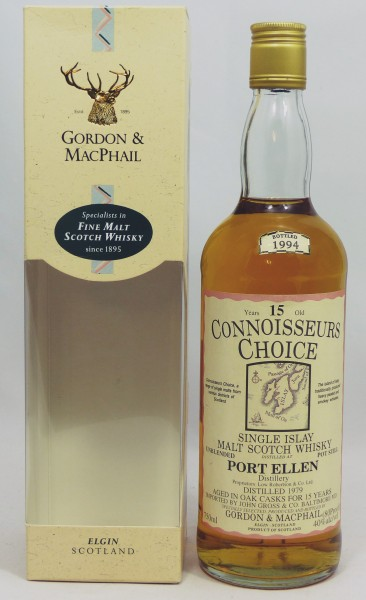 Port Ellen 1979 b. 1994 G&M Connoisseurs Choice US Import 80 Proof unblended
