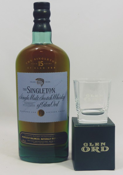 The Singleton of Glen Ord 15 Jahre incl. Original Glen Ord Whiskyglas