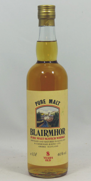 Blairmhor 8 years Pure Malt Scotch Whisky sehr alte Abfüllung