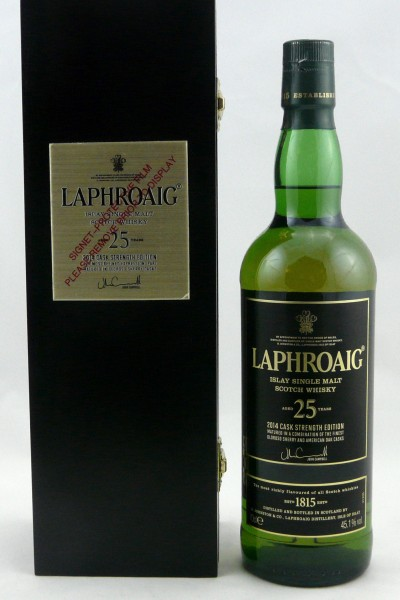 Laphroaig 25 Jahre limited Edition 2014 Cask strength