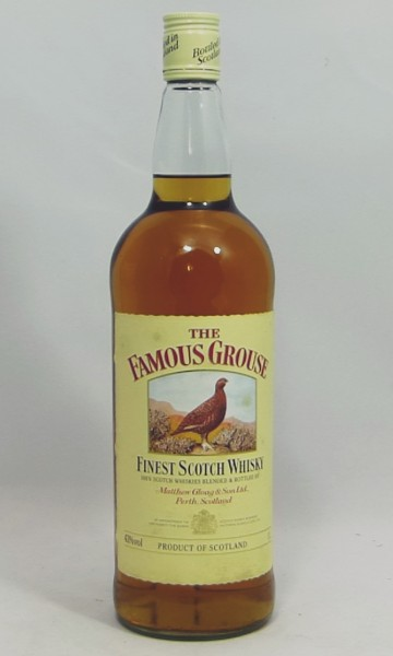 The Famous Grouse Finest Scotch Whisky Matthew Gloag old Label 80's