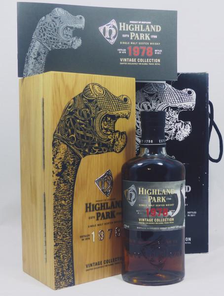 Highland Park Vintage 1978 bottled 2011