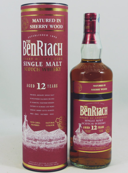 Benriach 12 Jahre Sherry Wood - old Style b. 2015