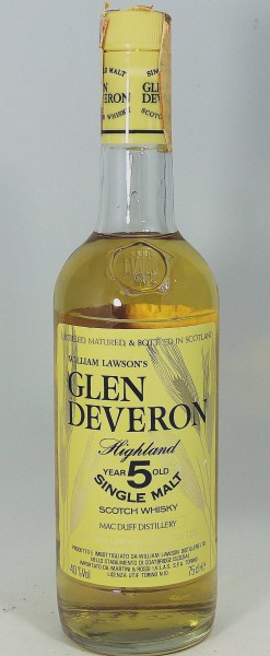 Glen Deveron 5 years old - William Lawson's old Style