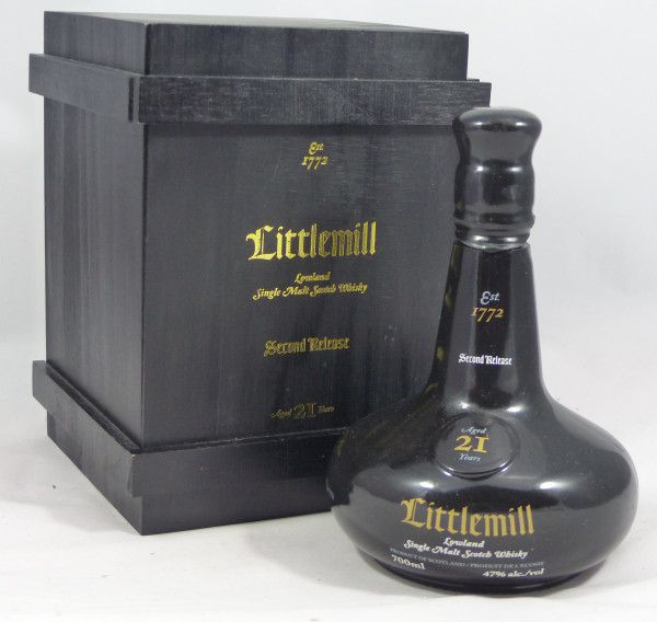 Littlemill 21 Jahre mit Holzkiste limited Edition Second Release