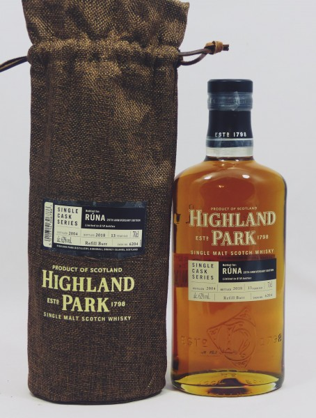 Highland Park 13 years 2004 Single Cask 6204 for RUNA