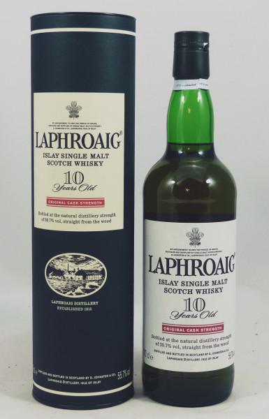 Laphroaig 10 Jahre Original Cask Strength 2007 Red Stripe 55,7%