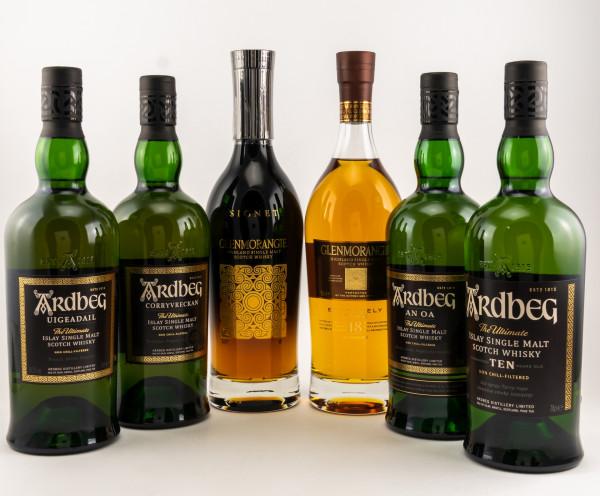Ardbeg / Glenmorangie Spirits Starter Set - 6 Flaschen 70cl in Ender's Party Set Limited Edition