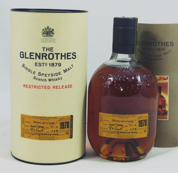 Glenrothes Vintage 1978 b. 1999 Restricted Release