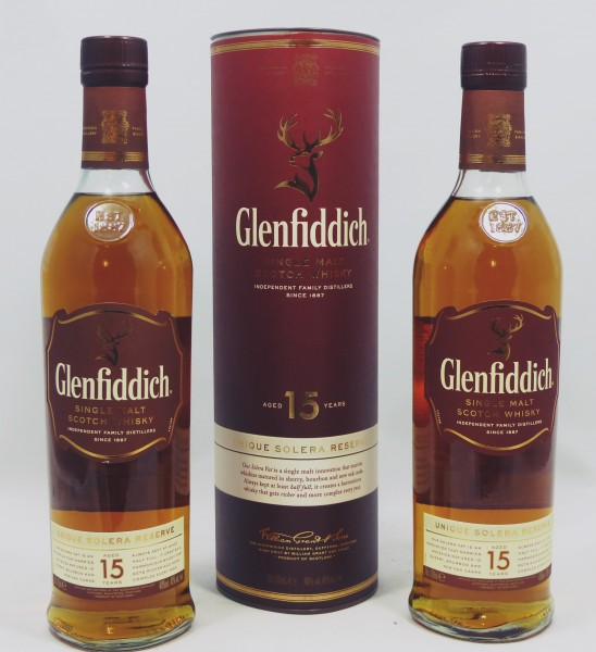 2 Flaschen Glenfiddich 15 Jahre Unique Solera Reserve