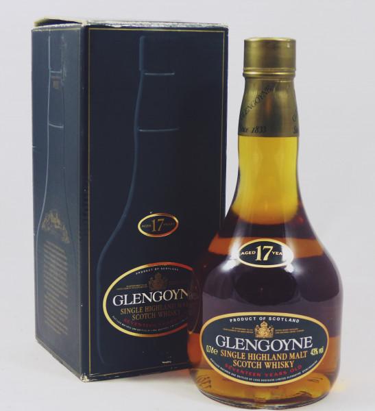 Glengoyne 17 Jahre Pear shaped dumpy Bottle - old Style 80's
