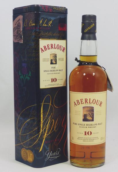 Aberlour 10 Jahre Pure Single Malt in Blechtube /TIN ältere Abfüllung 43%