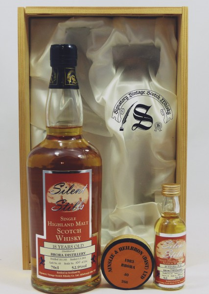 Brora 1983/01 Signatory Silent Stills 70cl + 5cl in GP
