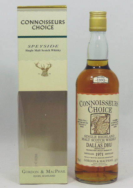 Dallas Dhu 1971 b. 1992 Gordon & MacPhail Connoisseurs Choice - Old Map Label