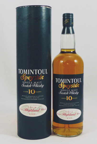 Tomintoul 10 years old Green Label 1 Liter - ältere Aufmachung