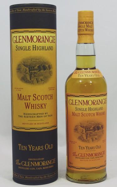 Glenmorangie 10 Jahre old Style 70cl Stills Backlabel