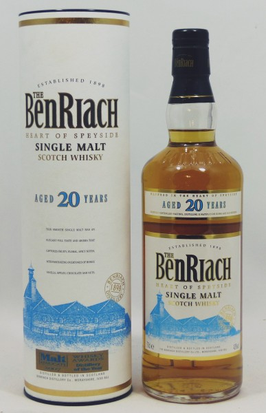 Benriach 20 Jahre Blue Label, b. 2012