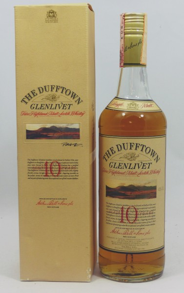 Dufftown Glenlivet 10 years old Label 80's Bottling