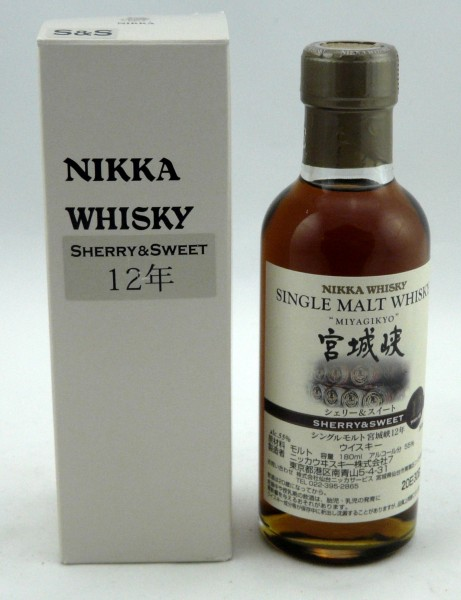 Miyagikyo 12 years Key Malt Sherry&Sweet 180 ml