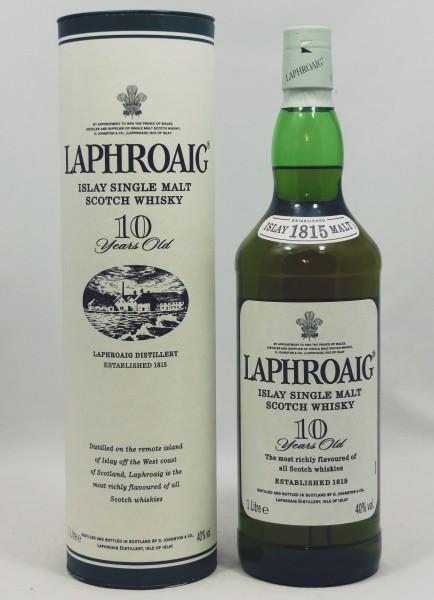 """Laphroaig 10 Jahre, ältere Abfüllung """"1815"""" Neck-Label 1 Liter"""