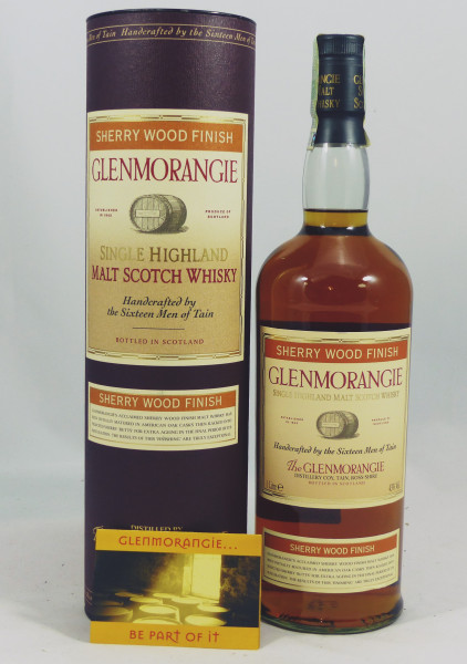 Glenmorangie Sherry Wood Finish 1 Liter New Striped Label