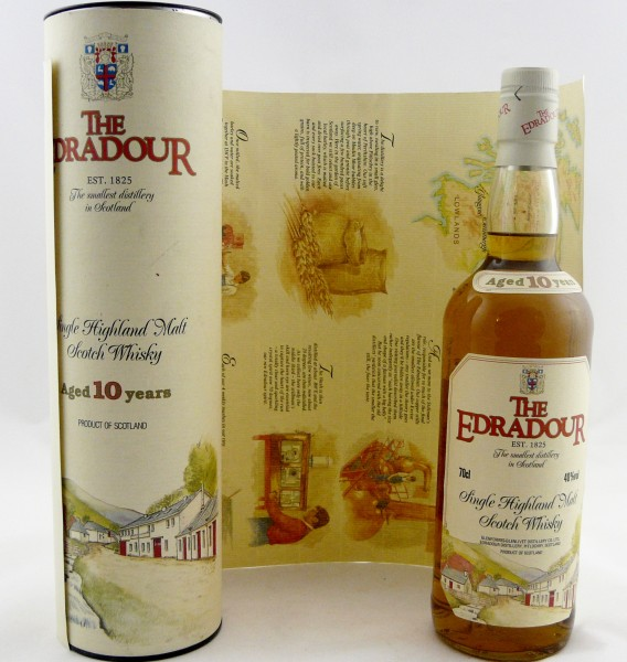 Edradour 10 Years old Style 1990s Flyer