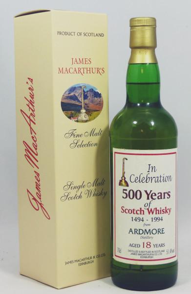 Ardmore 18 Jahre b. 1994 James MacArthur Celebration 500 Years of Scotch Whisky
