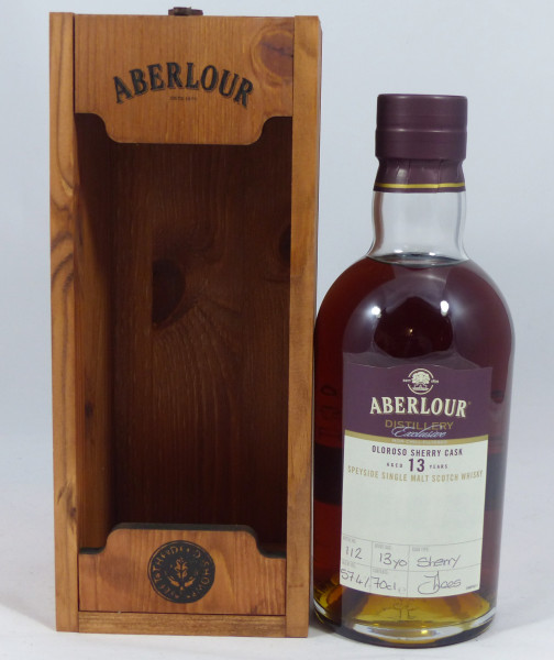 Aberlour 13 years 2005 Distillery Exclusive handfilled 57.4% Woodenbox