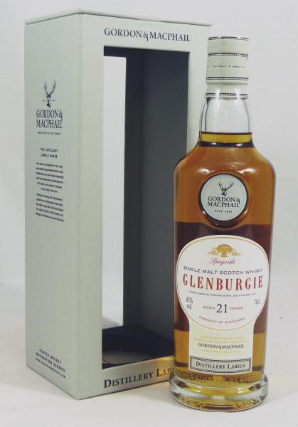 Glenburgie 21 Jahre G&M Distillery Label