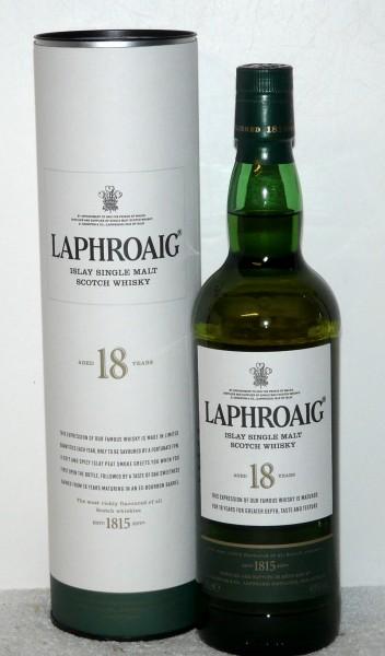 Laphroaig 18 Jahre - weiße Tube b. 2013