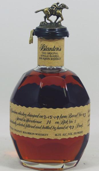 Blanton's The Original Single Barrel #43 Bourbon Whiskey aus 2019