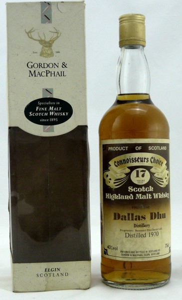 Dallas Dhu 1970 17 Years G&M Brown Label
