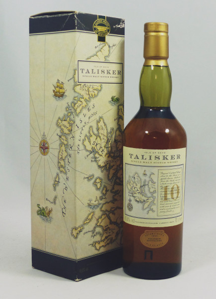 Talisker 10 Jahre - old Map Label