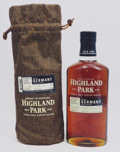 Highland Park 12 years 2005 Single Cask 4250 bottled for Germany