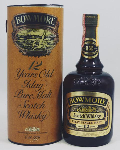 Bowmore 12 Jahre - Dumpy Brown Bottle - Gold Label