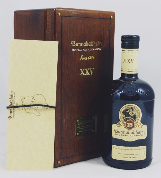 Bunnahabhain 25 Jahre XXV 43% - old Style in Holzkiste