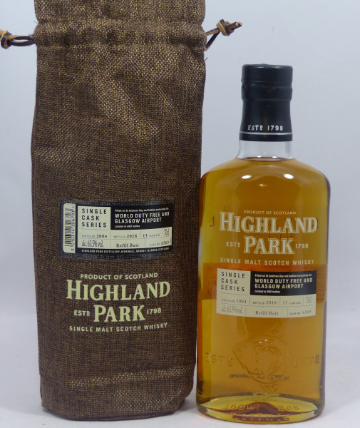 Highland Park 13 years 2004 Single Cask 6569 for World Duty Free and Glasgow Airport