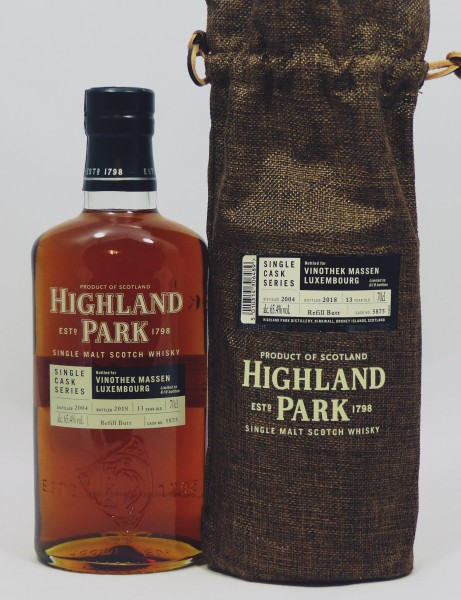 Highland Park 13 years 2004 Single Cask 5875 for Vinothek Massen, Luxembourg