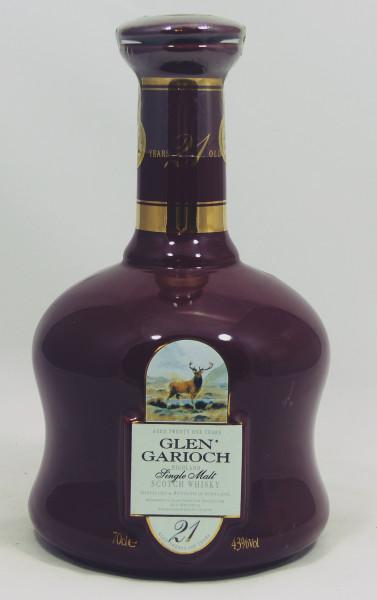 Glen Garioch 21 Jahre Keramik Decanter red