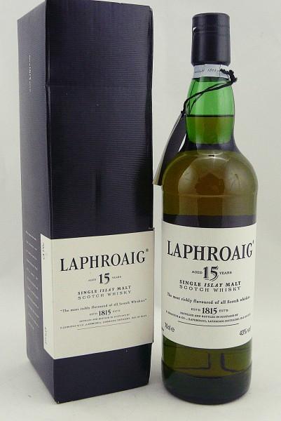 Laphroaig 15 Jahre eckige grüne Box - old Style