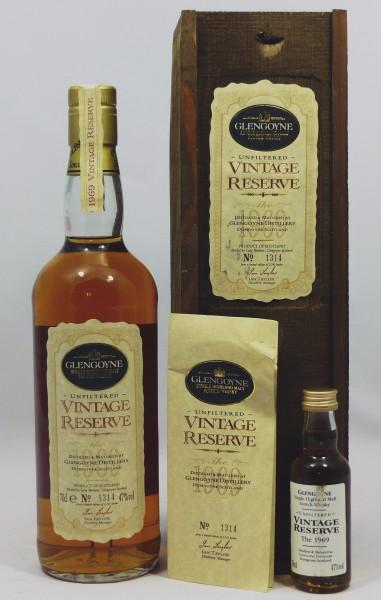 Glengoyne 1969 Vintage Reserve Holzkiste und Miniatur