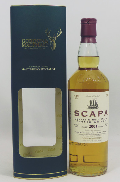 Scapa 2001 b. 2015 G&M Licensed Bottling 1st fill Bourbon
